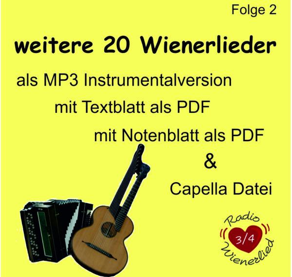 Wienerlieder instrumental, Harmonika, Kontragitarre, MP3, Radio Wienerlied, Marion und Erich Zib