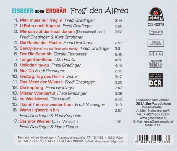 Fredi, Alfred Gradinger, Gesa
