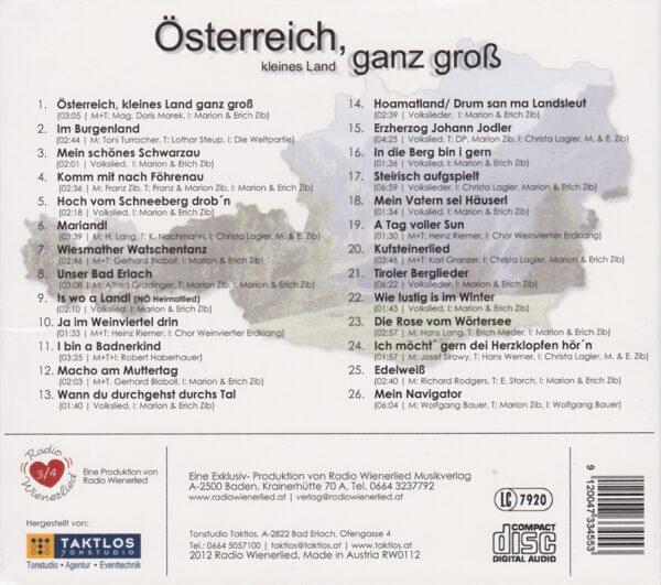 Österreich, Volksmusik, Christa Lagler, Robert Haberhauer, Weltpartie, Weinviertler Erdklang, Erich und Marion Zib, Radio Wienerlied, Mariandl, Navigator