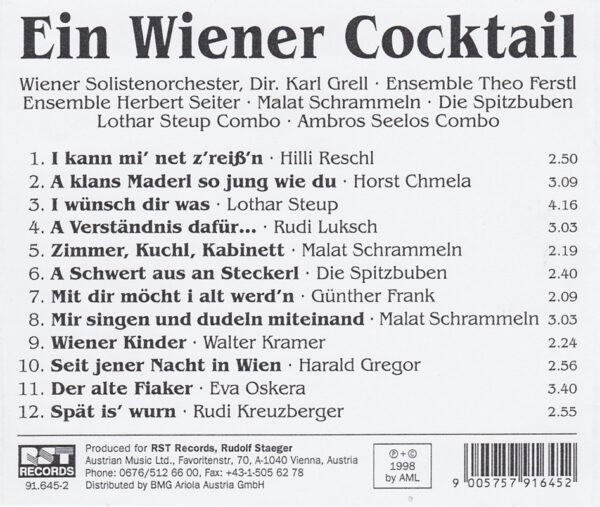 Hilli Reschl, Horst Chmela, Rudi Luksch, Die Spitzbuben, Hrald Gregor, Rudi Kreuzberger, Walter Kramer, Rudi Stäger