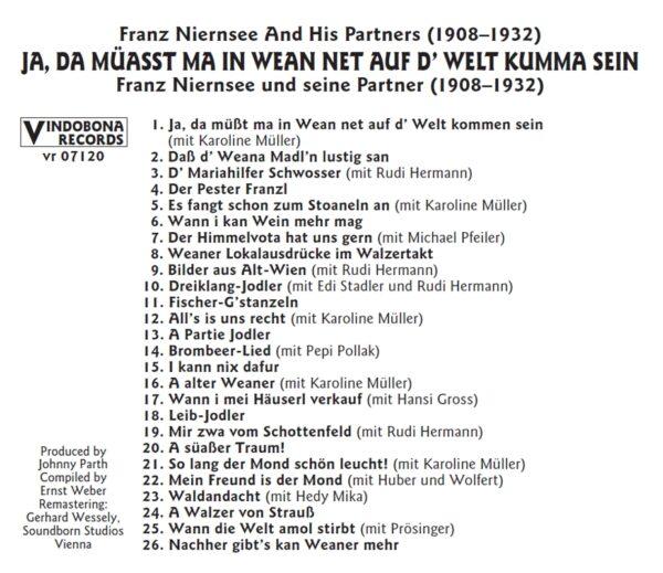 Franz Niernsee, Basilisk, historisch, Schellack, Radio Wienerlied