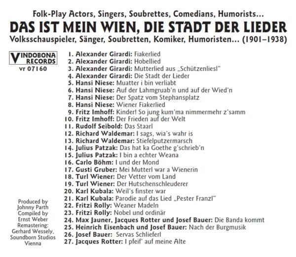 Basilisk, historisch, Schellack, Saenger und Humoristen, Radio Wienerlied