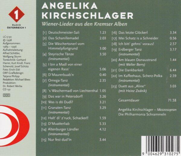 Angelika Kirchsclager, Kremser Alben, legendär