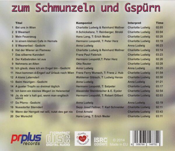 Charlotte Ludwig, Anna Ludwig, Schöndorfer, Wienerlied, CD