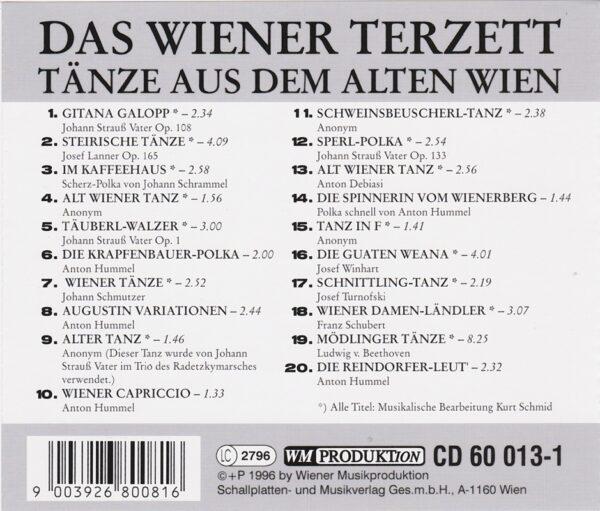 Das Wiener Terzett, Bearbeitung Kurt Schmid, Laendler, Taenze, Polka, CD