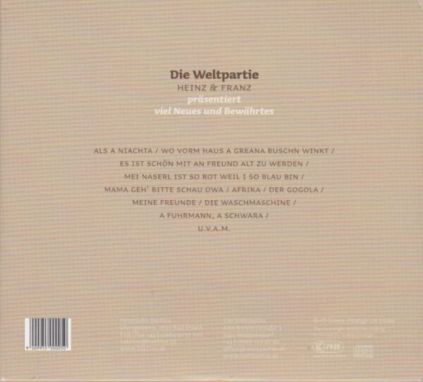 Weltpartie, Heinz Gruenauer, Franz Eder, 3 CDs,