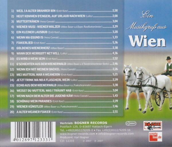 Heinz Conrads, Lolita, Alfons Bauer, Erich Kunz, Wienerlied, CD