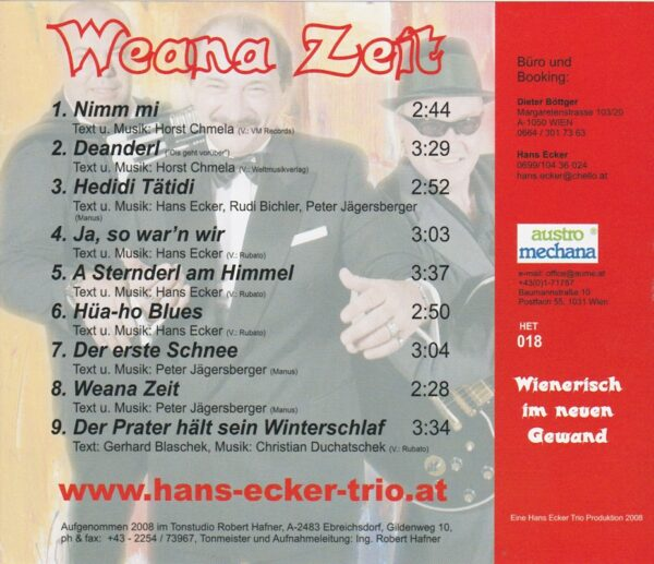 Peter Jaegersberger, Rudi Bichler, Wienerlied, CD