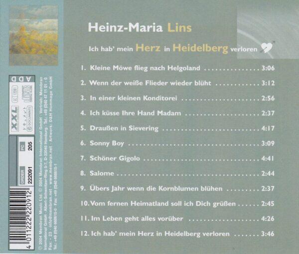 deutsche Schlager, Wienerlied, Lins, Ich hab mein Herz in Heidelberg verloren, Membran