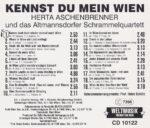 Herta Aschenbrenner, Altmannsdorfer Schrammeln, Wienerlied, CD