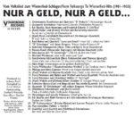 Vom Volkslied zum Wienerlied, Basilisk, historisch, Schellack, Radio Wienerlied