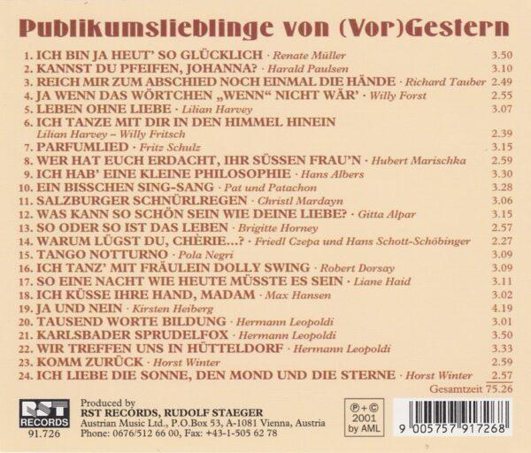 Horst Winter, Hermann Leopoldi, Willy Forst, CD,