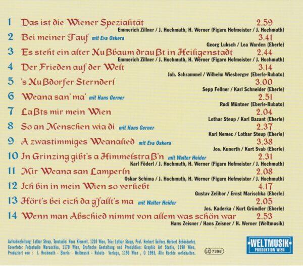 , Eva Oskera, Hans Gerner, Walter Heider, Wienerlied, CD