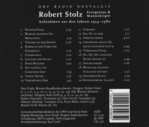 mit dem Großen Wiener Rundfunkorchester, Karl Grell, Wiener Solistenorchester, Robert Stolz ORF