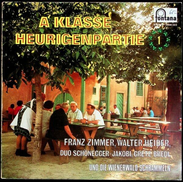 Franz Zimmer, Walter heider, Duo schoenegger-Jakobi, Grete Bredl, Wienerwald Schrammeln, Wienerlied, Schallplatten, Vinyl