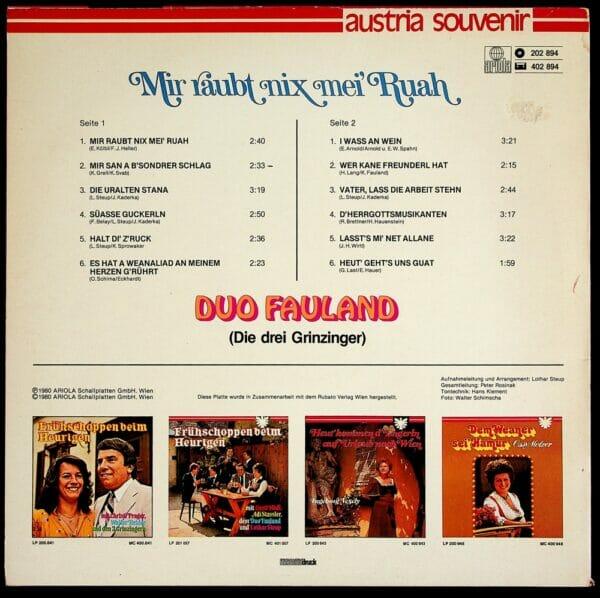 KLara, Kurt, Fauland, Wienerlied, Schallplatte, Vinyl