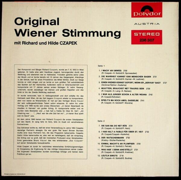 Hilde, Schödl, Richard, Wienerlied, Schallplatte, Vinyl