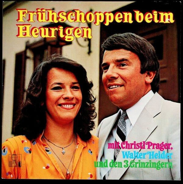 Christl Prgaer, Walter Heider, Geschwister, Weinschenk Erika Pall, 3 Grinzinger, Wienerlied, Schallplatte, Vinyl