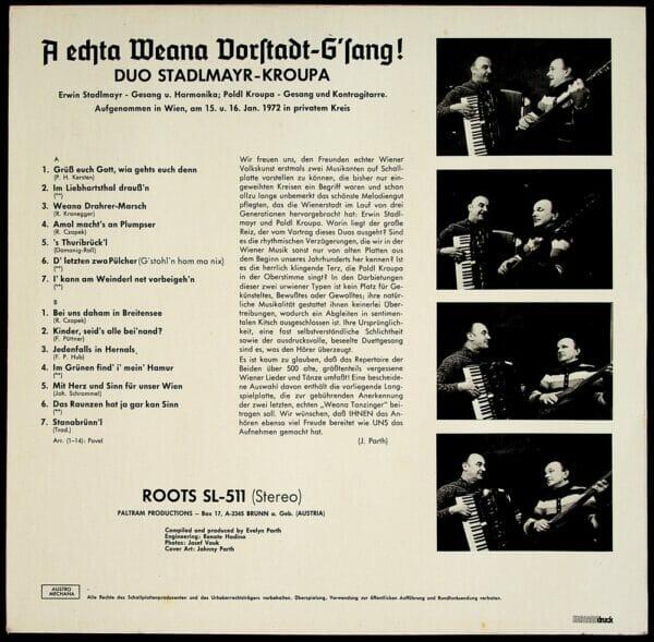 Stadlmayr, Kroupa, Wienerlied, Schallplatte, Vinyl