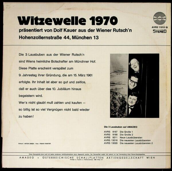 3 Lausbuben, Wiener Rutsche, Charly, Dolfi, Loisl, Schallplatte, Vinyl