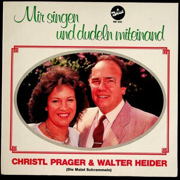 Walter Heider, Christl Prager, Geschwister, Wienerlied, Koenigin, Schallplatte, Vinyl