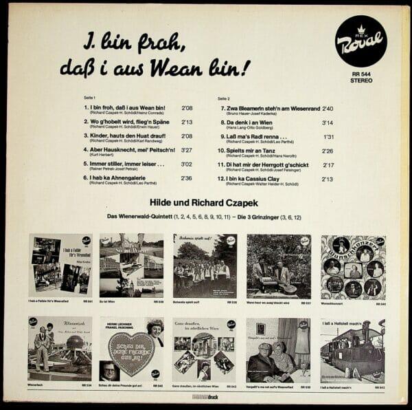 Hilde, Schoedl, Richard Czapek, I bin froh, dass i aus Wean bin, Schallplatte, Vinyl