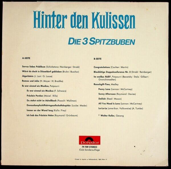 Spitzbuben, Witz, Strobl, Reinberger, Schicketanz, Schallplatte, Vinyl