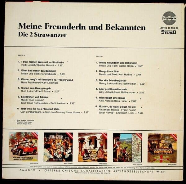 Wienerlied, 2 Strawanzer, Schallplatte, Vinyl