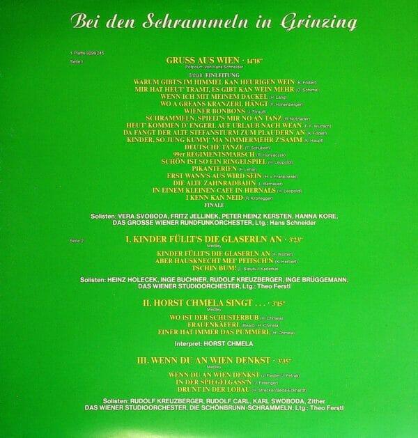 Bravo Foederl, So klingts bei uns, Wienerlied, Svoboda, ChmelaKersten, Jellinek, Kreuzberger, Zither, Rudolf Carl, Schrammeln, Orchester, Leopoldina Lauth, Heinz Roland, Schallplatte, Vinyl