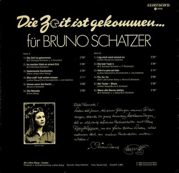 Bruno Schatzer, Lothar Steup, Combo, Wienerlied, Schallplatte, Vinyl
