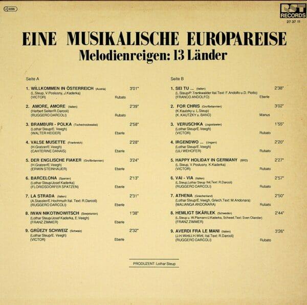 Eine musikalische Europareise, Melodienreigen, 13 Länder, Schallplatte, Vinyl