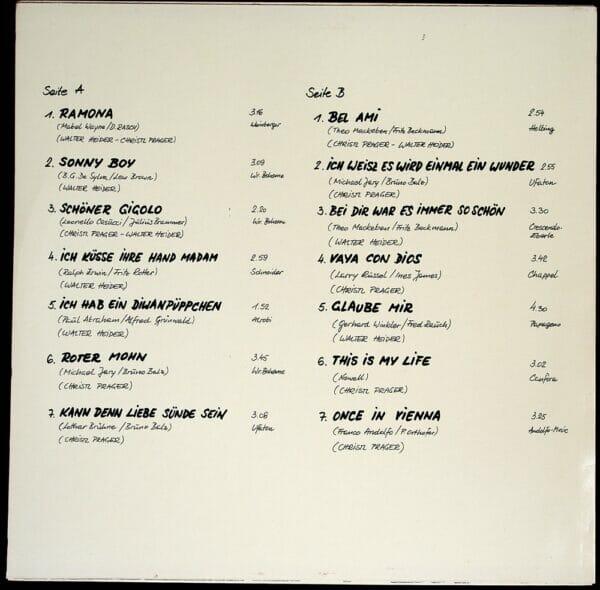 Evergreens, Wienerlied, Koenigin, Geschwister, Schallplatte, Vinyl, Prager, Heider