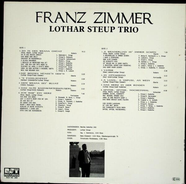 Franz Zimmer, Lothar Steup Trio, Potpourris, Wienerlied, Schallplatte, Vinyl