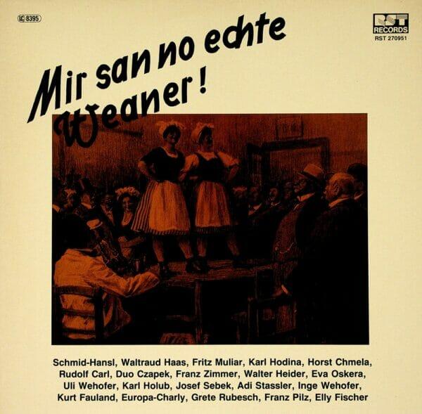 Wienerlied Vereinigung, Hodina, Reiser, Wehofer, Holub, Oskera, Haas, Muliar, Czapek, Fauland, Schallplatte, Vinyl