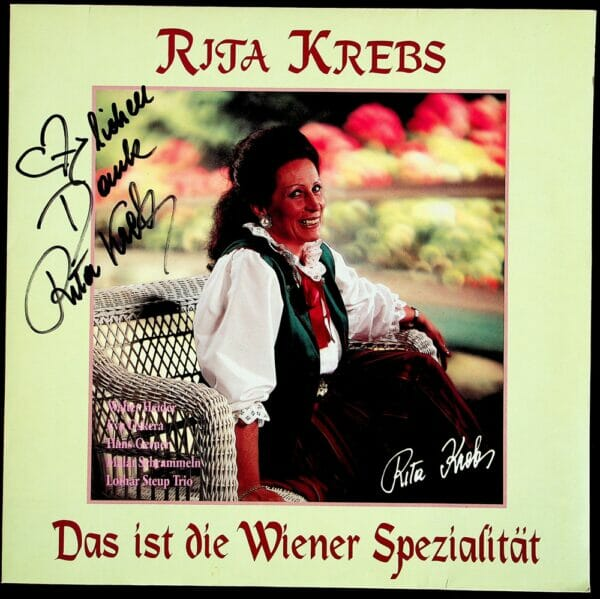 Rita Krebs, Seifert, Schoendorfer, Wienerlied, Autogramm, Schallplatte, Vinyl