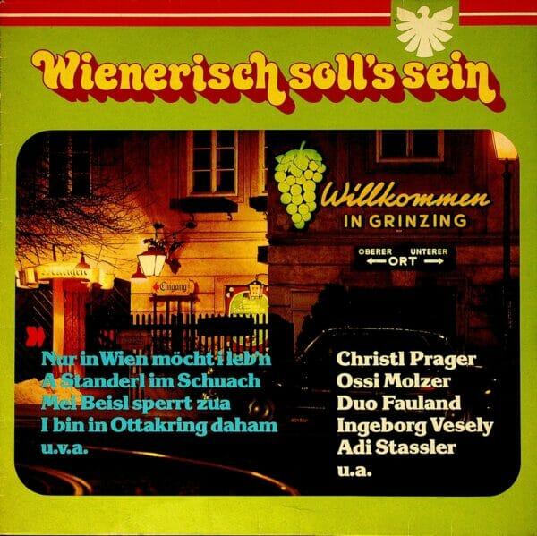 Aurich, Benedini, Vesely, Hannes und Rudi, Stassler, Lee, Molzer, Wienerlied, Schallplatte, Vinyl